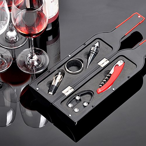 Wine Accessories Gift Set - 5 Pcs Deluxe Wine Corkscrew Opener Sets Bottle Shape in Elegant Gift Box, Great Wine Gifts Idea for Wine Lovers, Friends, Anniversary by Friend of Vines (Image #6)