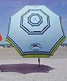 Tommy Bahama 2015 Sand Anchor 7 feet Beach Umbrella with Tilt and Telescoping Pole- light blue