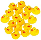 Rubber Duck Baby Bath Toy (18-Pack); Comes Assorted In Either A Bag Or Plastic Tub With Handle- No Choice Available! Rubber Ducky Toys Are Perfect For Kids Taking Baths As Safe Bath Toys. Also Rubber Ducky Toys Are Great For Baby Showers, Birthday Pa...