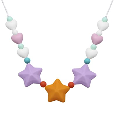 Baby Silicone Teething Nursing Necklace Chew Chewable jewelry Toys G