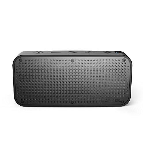 Anker SoundCore Sport XL Outdoor Portable Rechargeable Bluetooth Wireless Speaker with 16-Watt Output and 2 Subwoofers, IP67 Waterproof Weatherproof Shockproof, Black by Anker