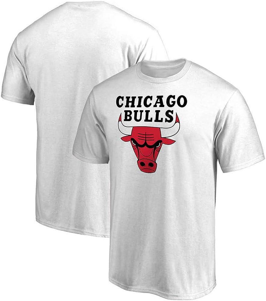 Camiseta NBA Chicago Bulls, Cómoda Camisa De Manga Corta, Media Manga, Blanca White-S: Amazon.es: Ropa y accesorios