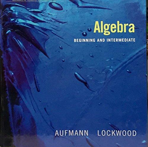 Title: ALGEBRA BEGINNING AND INTERMEDIATE (AIE)