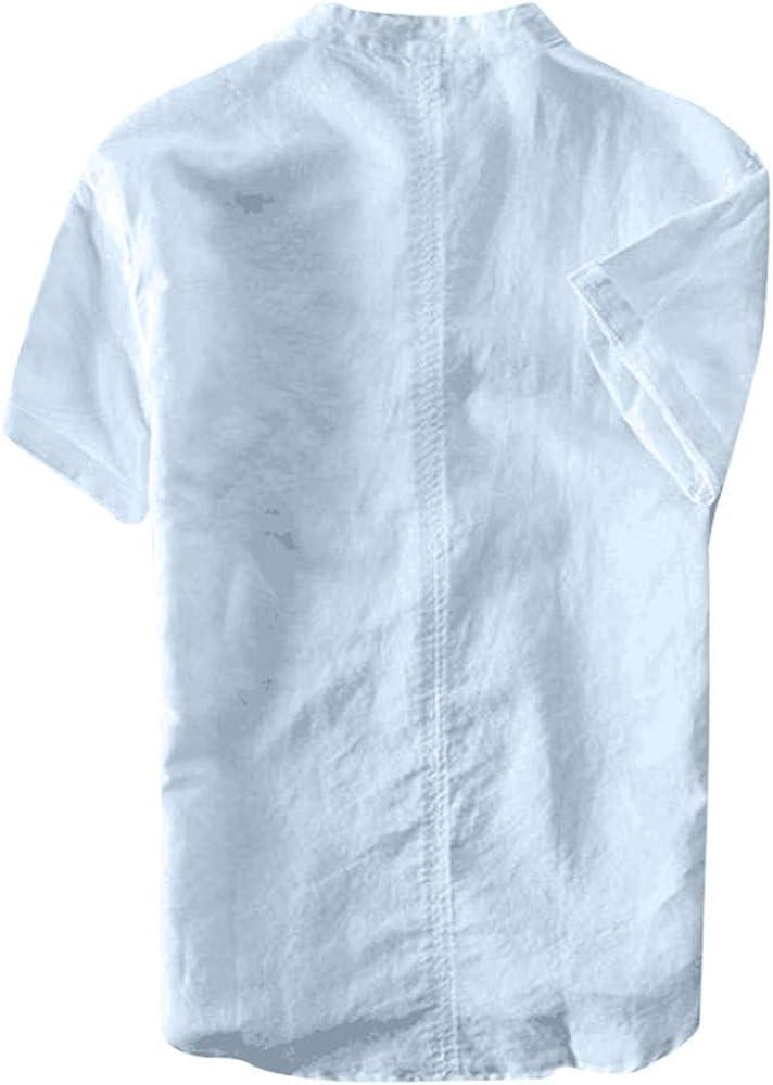 Deelin - Camisa de Manga Larga para Hombre, de Color Puro ...