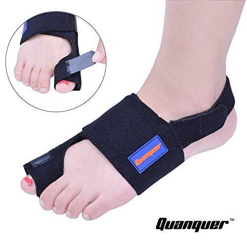 Bunion Corrector by Quanquer [Pair] - Bunion Splint Toe Straightener Brace for Hallux Valgus Pain Relief Fits Men & Women by Quanquer (Image #4)