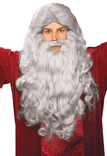 Old Man Beard Costume (Biblical Wig & Beard Costume Set Gray)