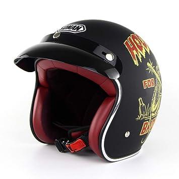 Harley Retro Moto Casco Hombres Y Mujeres Verano Coche Eléctrico Medio Casco De Seguridad Cascos,