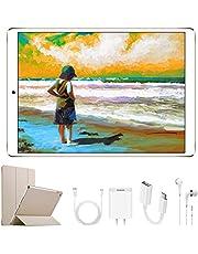 4G Tablet 10.1 Pollici con Wifi Offerte DUODUOGO Tablet PC Offerte Android 7.0 con Slot per Scheda SIM Doppio 8500mAh Memoria RAM da 2GB+32GB 8MP Camera Quad Core Tablet Sbloccato Bluetooth(Oro)