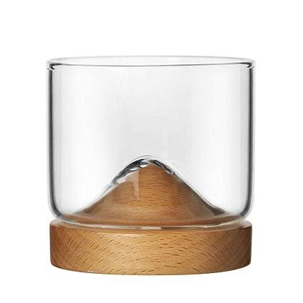 Seasaleshop Copa de Vino Taza de té Tazas para Espresso Hecho de Vidrio de Borosilicato Alto