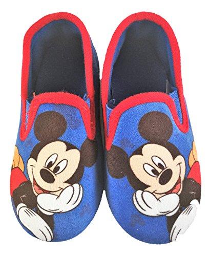 Zapatillas Pantuflas Infantiles estar Por casa Mickey Disney Color Azul