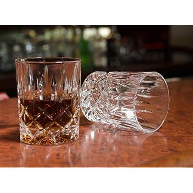 Waldorf  Men's Bar  Crystal Whiskey Glass (Gift Box Set of 2)