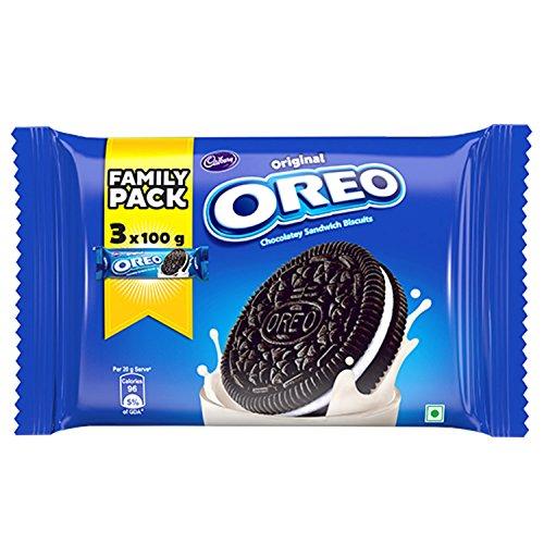 Cadbury Oreo Vanilla Creme Biscuit Family Pack, 300g