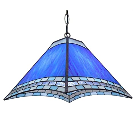 Tiffany Sky Blue Glass Porch Ceiling Pendant Light