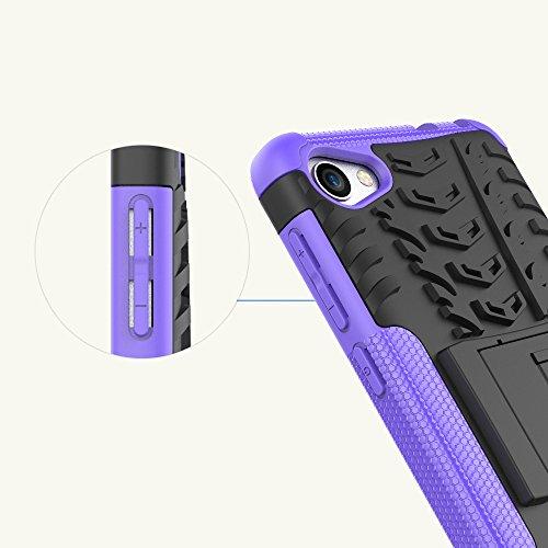 OFU®Para Alcatel A5 LED Smartphone, Híbrido caja de la armadura para el teléfono Alcatel A5 LED resistente a prueba de golpes contra la lucha de viaje accesorios esenciales del teléfono-Rose Red verde