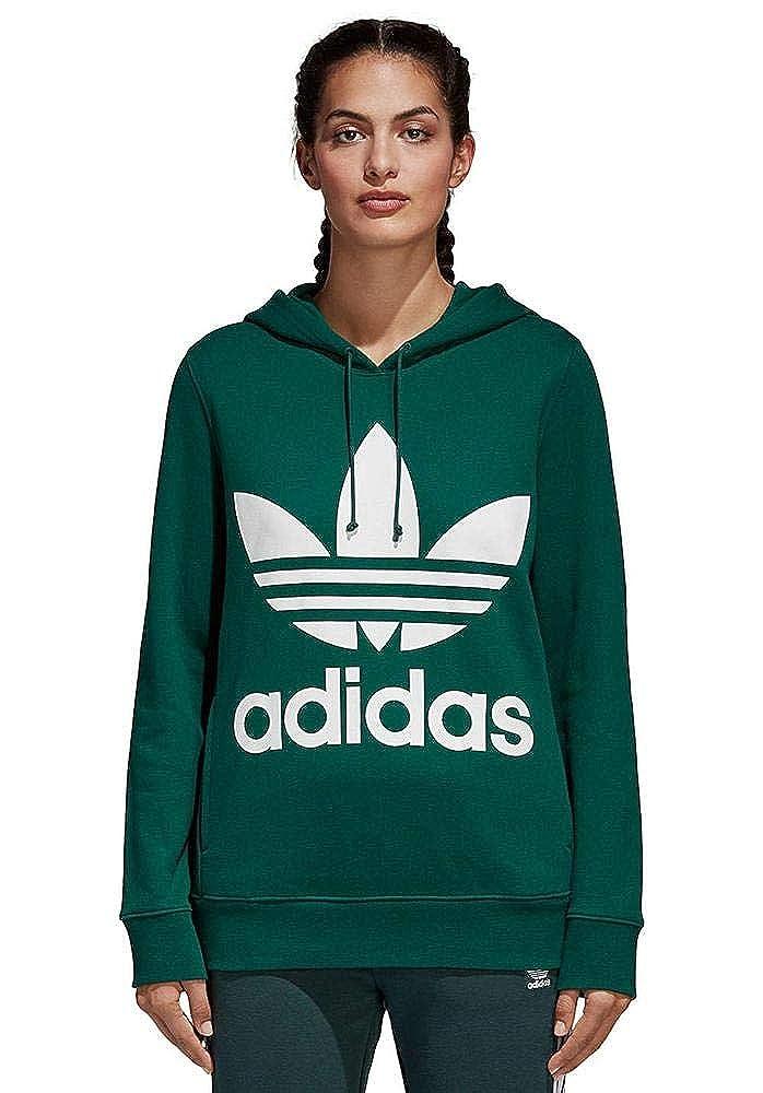 Adidas Trefoil Hoodie, Sweatshirt Damen, damen, TREFOIL HOODIE, mehrfarbig (Cverde), 44