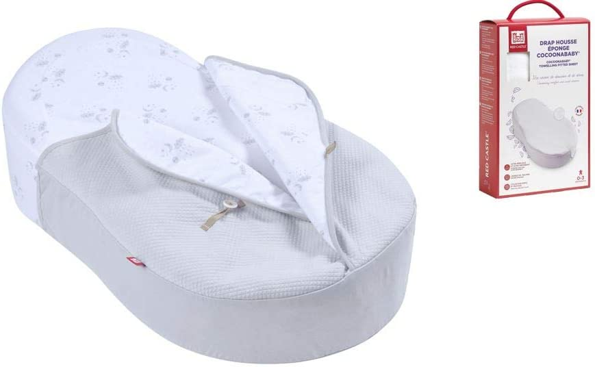 Red Castle Cocoonababy Bundle with Cocoonacover 1 Tog and Additional Fitted Sheet Grey Dreamy Cloud
