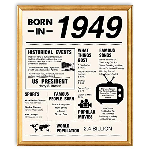 yuzi-n 70th Birthday Poster 1949 Sign | 70th