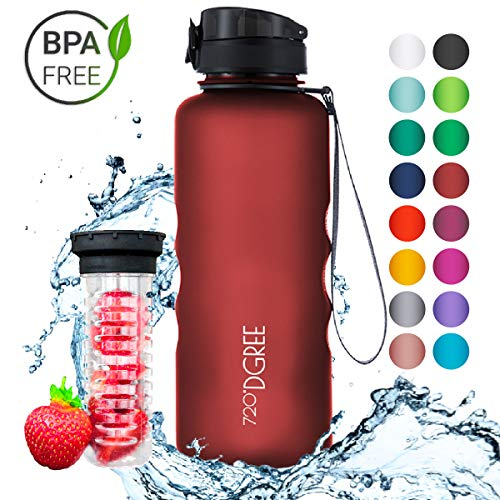 """Leakproof Tritan Water Bottle """"uberBottle"""" – 50 oz, 1.5 liter 
