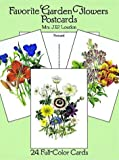 img - for Favorite Garden Flowers Postcards: 24 Full-Color Cards (Card Books) book / textbook / text book