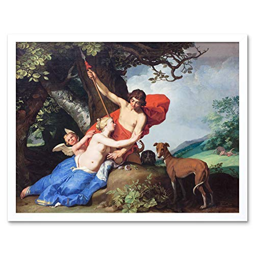 Bloemaert Venus Adonis Greek Myth Painting Art Print Framed Poster Wall Decor 12x16 inch