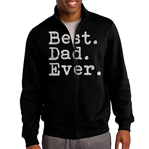 Men's Best. Dad. Ever Solid Stand Collar Zipper Jacket Size M - Hunger Games Characters Costumes