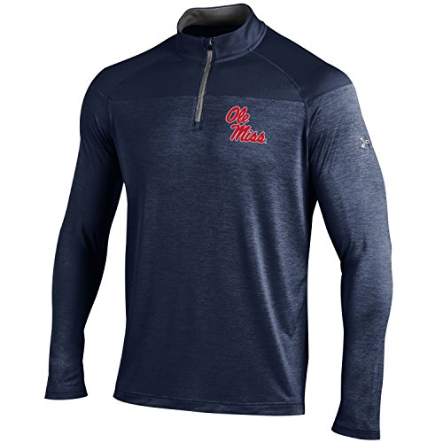 Under Armour NCAA Mississippi Old Miss Rebels Men's Tech 1/4 Zip Tee, X-Large, Navy