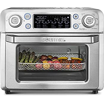 Image of Gourmia GTF7650 24-in-1 Multi-function, Digital Stainless Steel Air Fryer Oven - 24 Cooking Presets with Convection Mode - Fry Basket, Oven Rack, Baking Pan & Crumb Tray, Includes Recipe Book Home and Kitchen