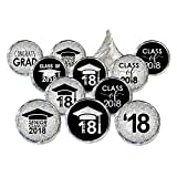 Class of 2018 Graduation Party Favor Stickers, Set of 324 (Black and Silver)