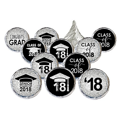 Class of 2018 Graduation Party Favor Stickers, Set of 324 (Black and (Favors For Graduation)