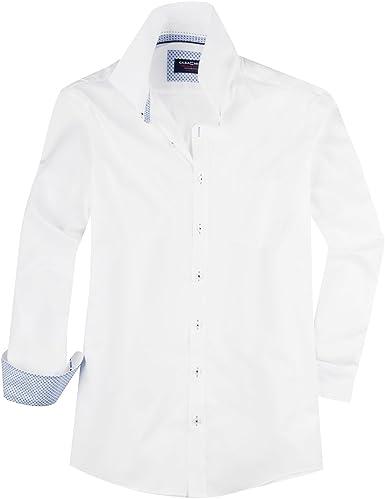 Casamoda Camisa Blanca Manga Larga XXL estructurada, 45-57:54 ...