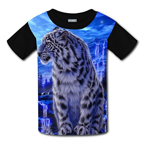 Tiger Big Cats Kids 3D Graphic Printed Short Sleeve Tee T shirts Boys Girls Tops L