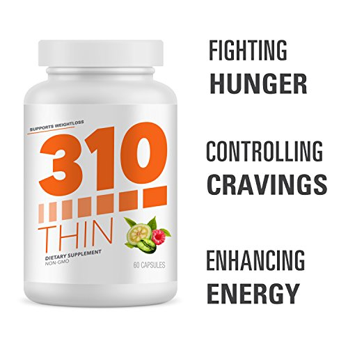 310 Thin Metabolism Booster with Garcinia Cambogia | Green Coffee and Ketones Extract | Crush Cravings and Boost Metabolism | Fight Hunger | Control Cravings | Enhance Energy by 310 Nutrition (Image #1)