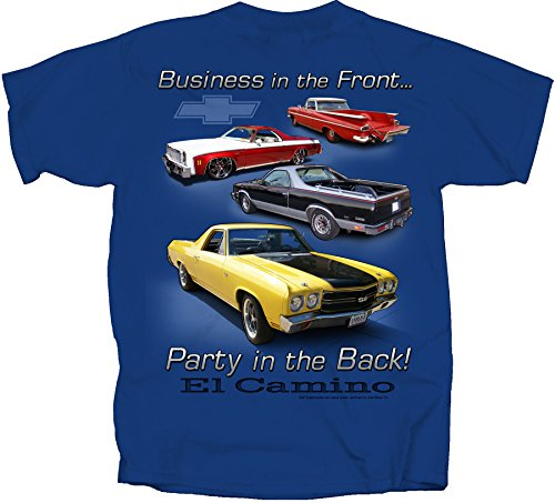 Joe Blow EL Camino Party In Back Adult T-Shirt, Medium, Metro Blue