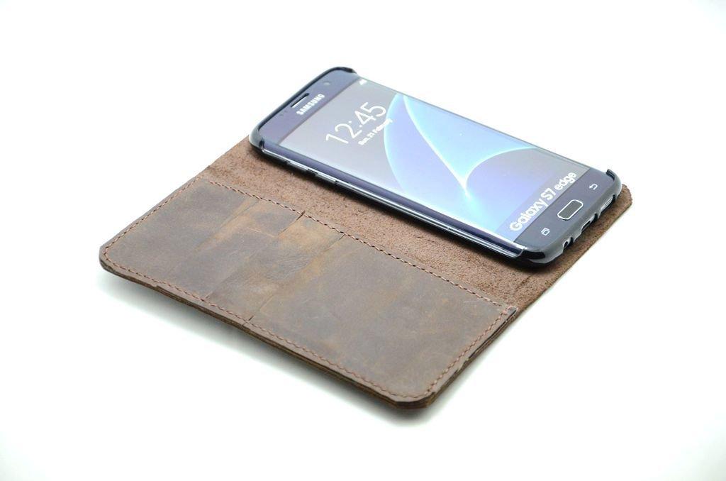 Samsung Galaxy S7 Edge Casos s7 caja del cuero genuino del tirón del cuero de la cubierta del cuero de la carpeta S7 EDGE S6 /S6 EDGE /s6 edge plus /note 5 /note 4 case