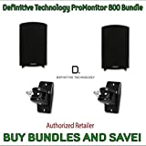 Definitive Technology ProMonitor 800 Bookshelf Speakers (Pair Black) & Definitive Technology Pro-Mount 90 - Pair (Black)