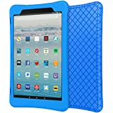"MoKo Case for All-New Amazon Fire HD 10 Tablet (7th Generation, 2017 Release) - [Honey Comb Series] Light Weight Shockproof Soft Silicone Back Cover [Kids Friendly] for Fire HD 10.1"" Tablet, Blue"