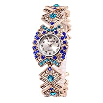 French Loops Swarm of Blues Jewel Studded Ethnic Party Wear