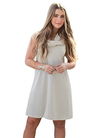 1e36d66e36 Social Butterfly House Women s Sleeveless Coffee Break Cowl Neck Sweater  Dress at Amazon Women s Clothing store