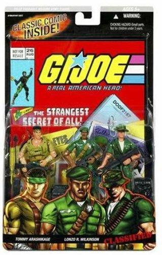 GI Joe Hasbro A Real American Hero 3 3/4 Action Figure 3Pack Tommy Arashikage, Lonzo R. Wilkinson Classified Snake Eyes