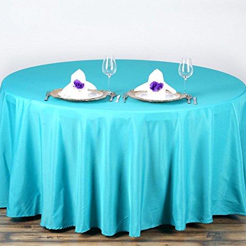 "BalsaCircle 90"" Round Polyester Tablecloth Wedding Table"