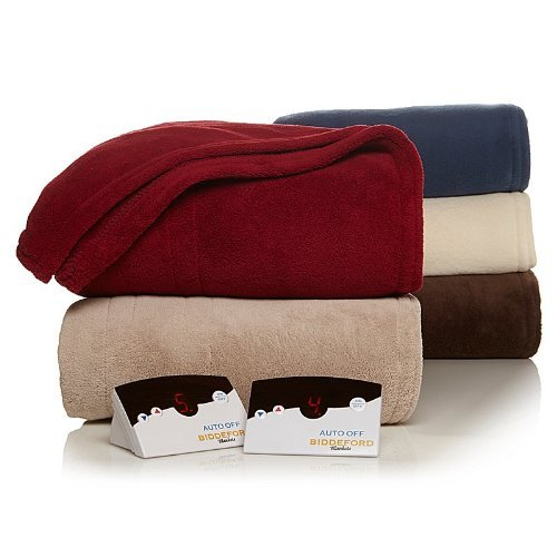 Biddeford 2024-905291-700 Electric Heated Knit MicroPlush Blanket, King, Taupe