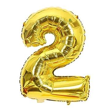 ShopVip Globos de cumpleaños - número 2 - Decoración ...