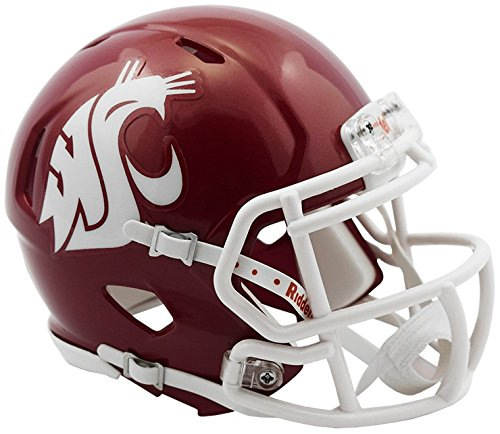 Riddell WASHINGTON STATE COUGARS NCAA Revolution SPEED Mini Football Helmet (Washington Helmet Cougars State)