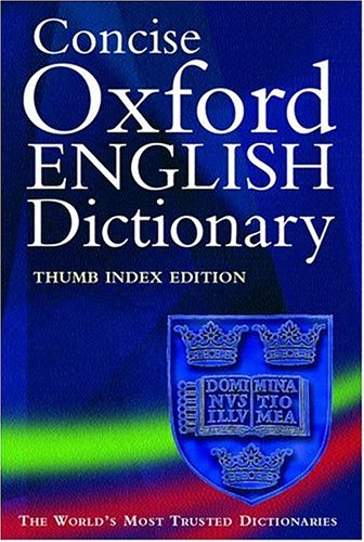 The Concise Oxford English Dictionary, thumb index edition
