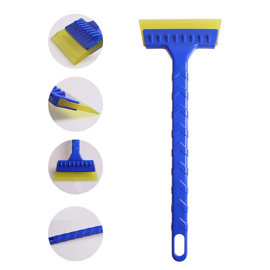 Blue Amaping 2-in-1 Ice Scraper Shovel Rakes with Brush For Car Windshield Snow Remove Frost Broom Cleaner