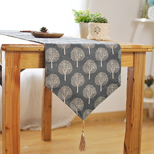 - Forest Series Tablecloth/Table Runner/Placemats/Throw Pillowcase/Cushion Sets, Blue and White by HugeHug