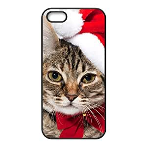 Adorable Cat Wear Santa Hat Phone Case for Iphone 5s