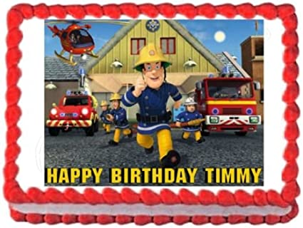 Amazon.com: Fireman Sam Party Decoración comestible ...