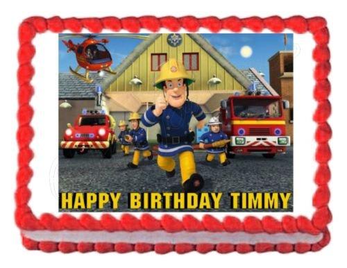 FIREMAN SAM party decoration edible cake image cake topper frosting sheet (Shrek Costume Ideas)