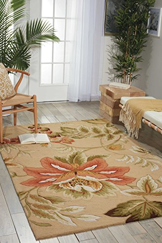 - Nourison Fantasy (FA11) Beige Rectangle Area Rug, 2-Feet 6-Inches by 4-Feet  (2'6